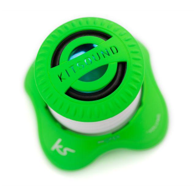Boxa portabila KitSound Invader, cu fir, Verde