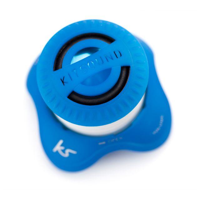Boxa portabila KitSound Invader, cu fir, Albastru
