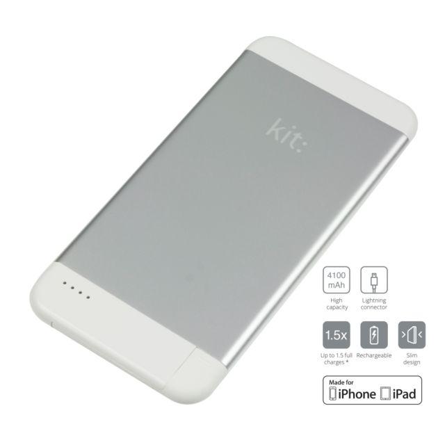 Baterie portabila 4100mAh, Apple Lightning MFI, Argintiu