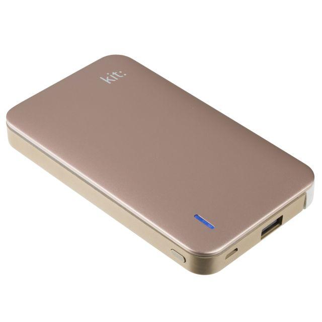 Baterie portabila 8200mAh, Apple Lightning MFI, Auriu Rose (Rose Gold)