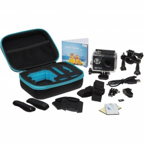 Set camera sport Kitvision Escape HD5W + accesorii (Memory Card & Travel Case), Negru