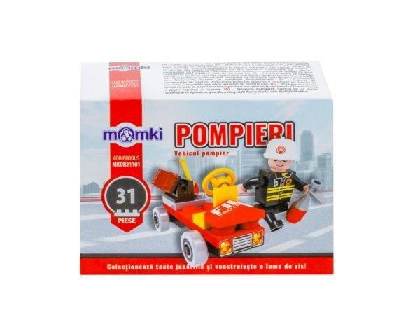 Momki-constructie,Pompieri,vehicul,31pcs