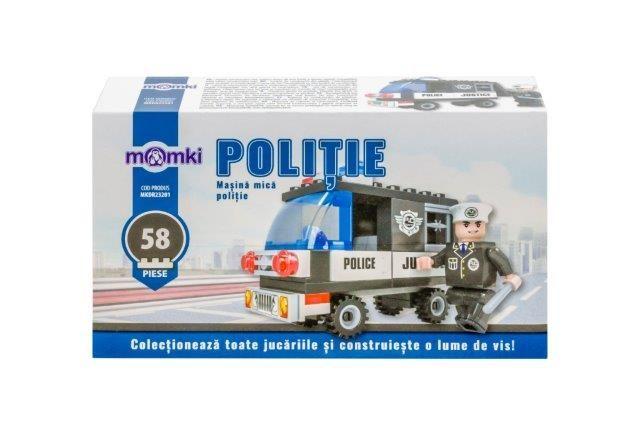 Momki-constructie,Politie,masina mica,58pcs