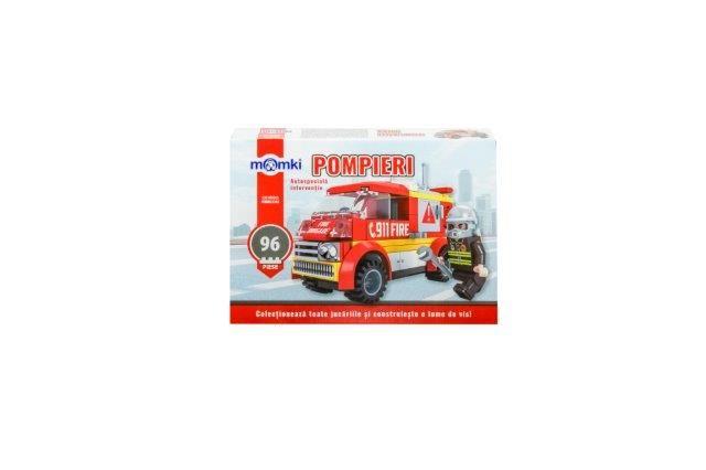 Momki-constructie,Pompieri,autospeciala interventie,96pcs