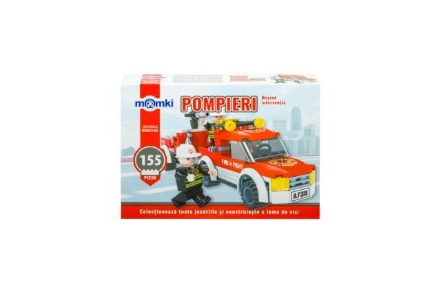 Momki-constructie,Pompieri,masina interventie,155pcs