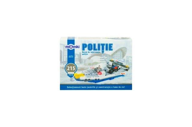 Momki-constructie,Politie,barca interv,215pcs
