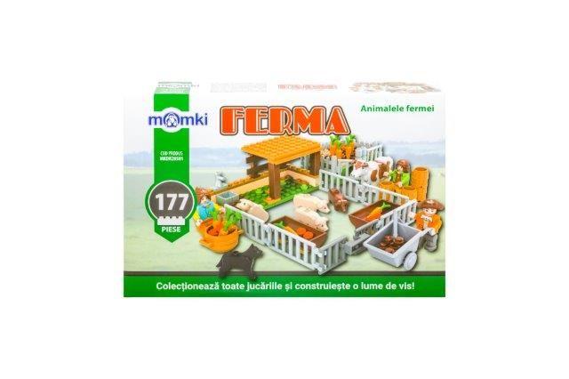 Momki-constructie,Ferma,animalele fermei,177pcs