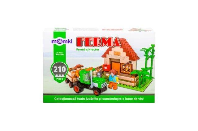 Momki-constructie,Ferma si tractor,210pcs