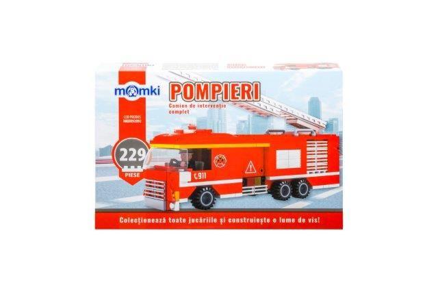 Momki-constructie,Pompieri,camion interventie,229pcs