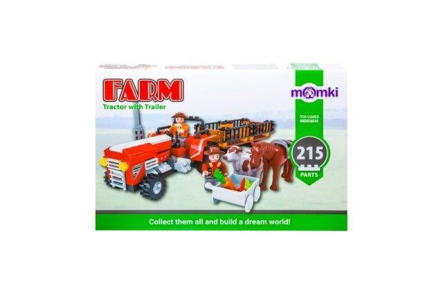 Momki-constructie,Ferma,tractor cu atas,215pcs
