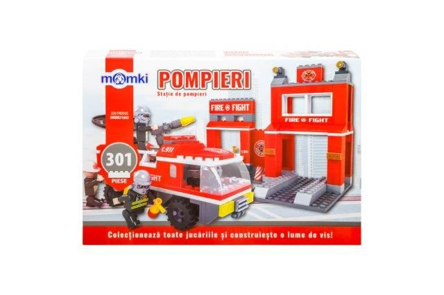 Momki-constructie,Pompieri,statie,301pcs