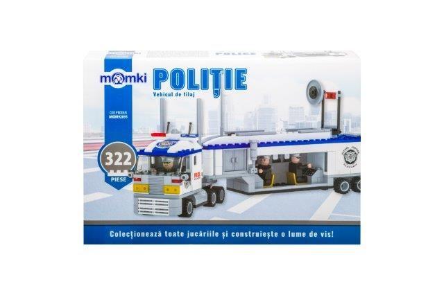 Momki-constructie,Politie,vehicul de filaj,322pcs