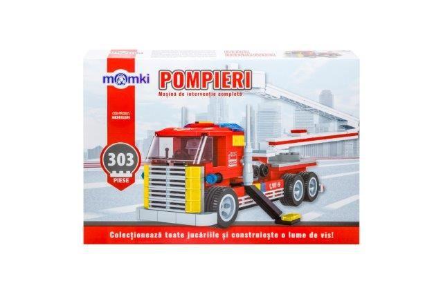 Momki-constructie,Pompieri,masina interventie,303pcs