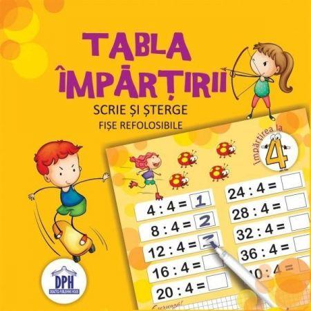 TABLA IMPARTIRII CU CARIOCA