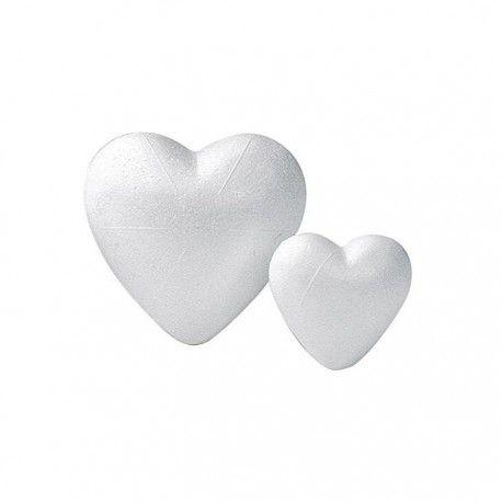 Figurina polystiren,9cm,2buc/set,inima