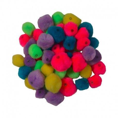 Pampon perforat color,1-5cm,100buc/set