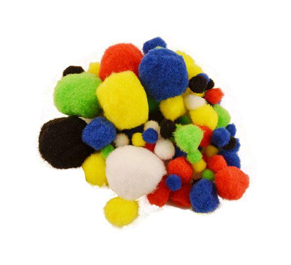 Pampon mixt color,1-5cm,100buc/set