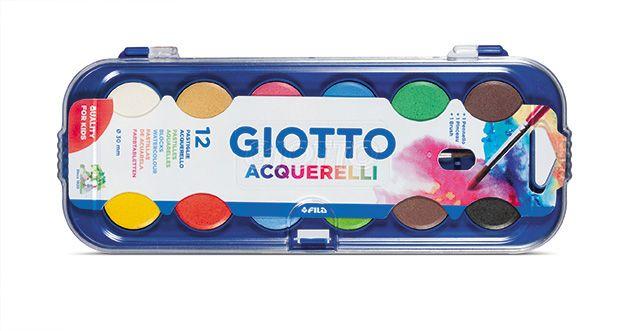 Acuarele 12 culori,Giotto Aquarella
