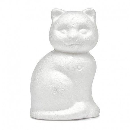 Figurina polystiren,13cm,pisica