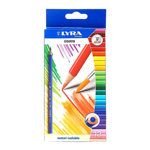 Creioane colorate+pensula,Osiris,12buc/set