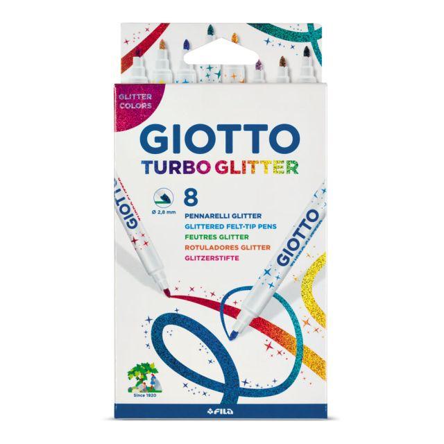Markere pt copii,Giotto Turbo glitter,8buc/set