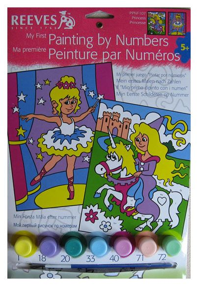 Pictura pe numere,Reeves,basic,Princesses