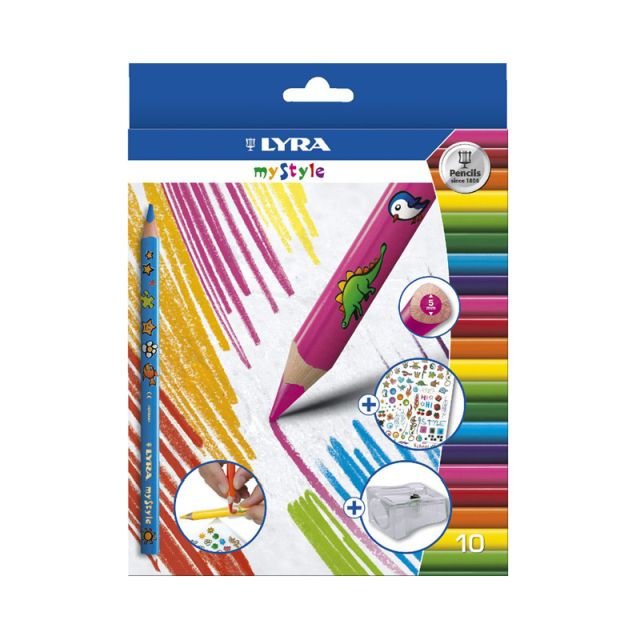 Creioane colorate personalizabile,Lyra,12buc/set