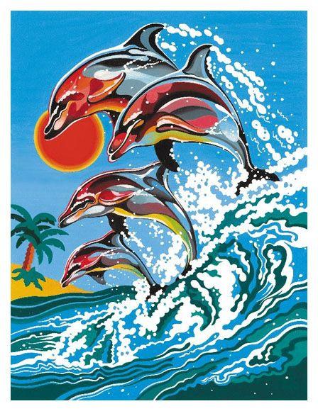 Pictura pe numere,Junior,Dolphins