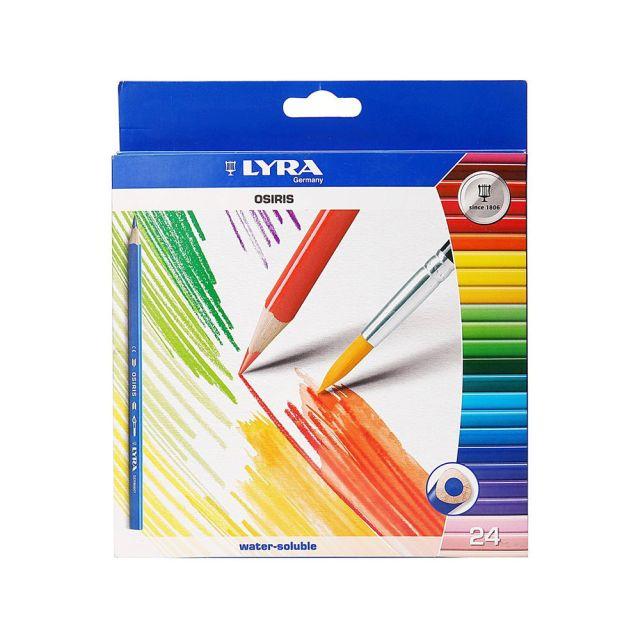 Creioane colorate+pensula,Osiris,24buc/set