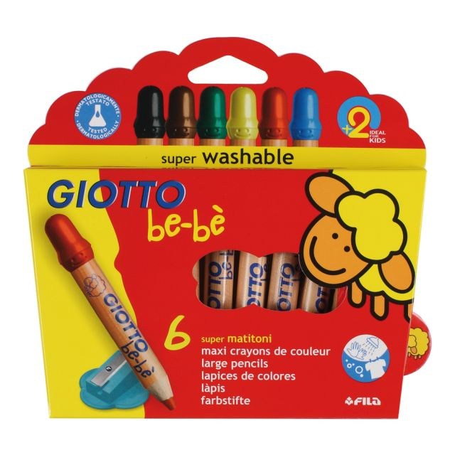 Creioane colorate,Giotto Be-Be,6buc/set