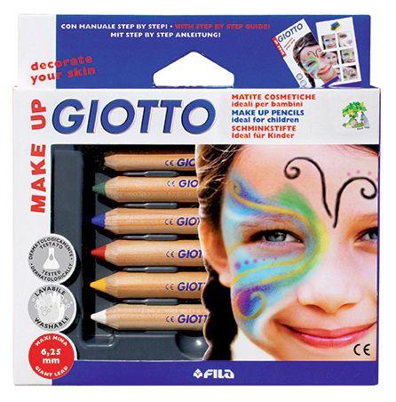 Creioane colorate,pt fata,Giotto Clasic,6buc/set