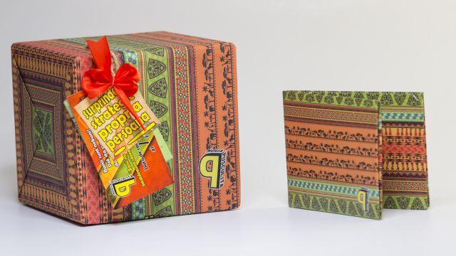 Pusculita si portofel handmade Afro