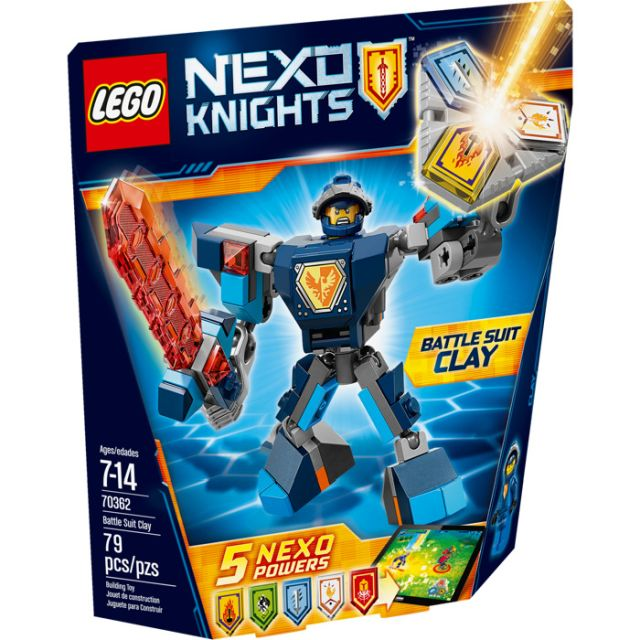 Lego-Nexo Knights,Clay,costum...