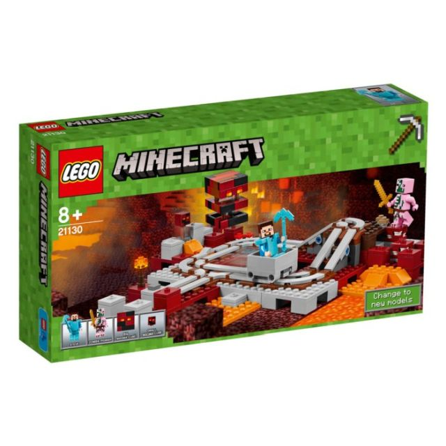 Lego-Minecraft,Calea ferata...