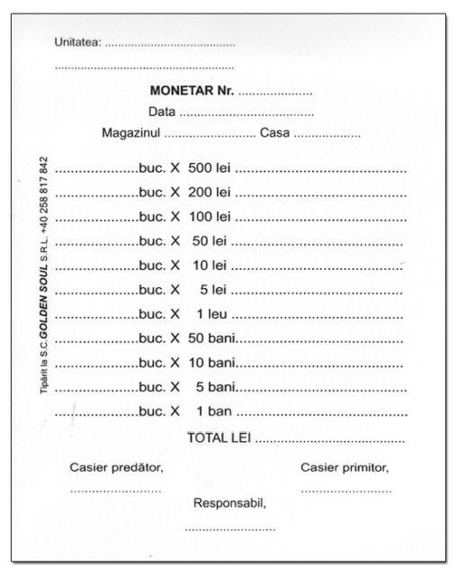 Monetar A6,100file,1exemplar