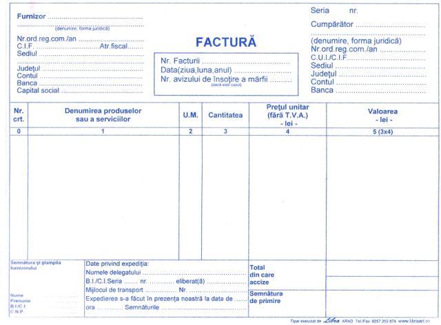 Facturier A4,fara...