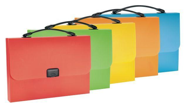 Servieta plastic A4,1comp,neon...