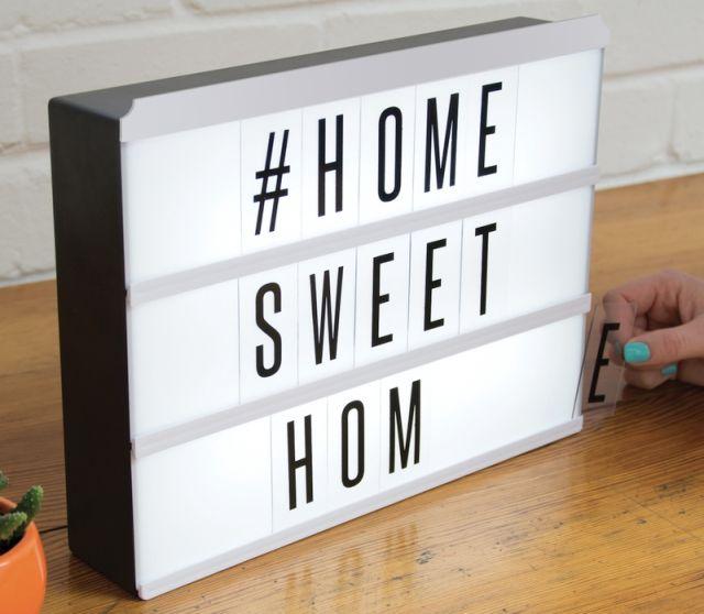 lampa cu litere interschimbabile light up message board fizz0089 diverta online. Black Bedroom Furniture Sets. Home Design Ideas