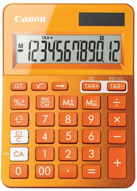 Calculator birou Canon LS-123,orange,12digiti
