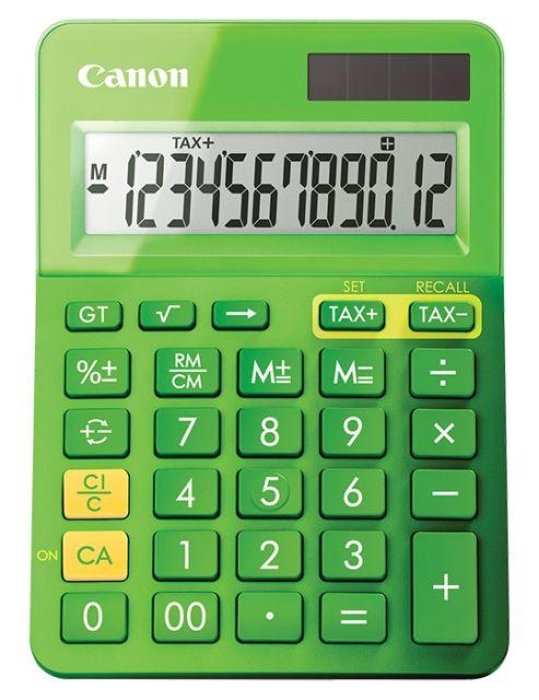 Calculator birou Canon LS-123,verde,12digiti