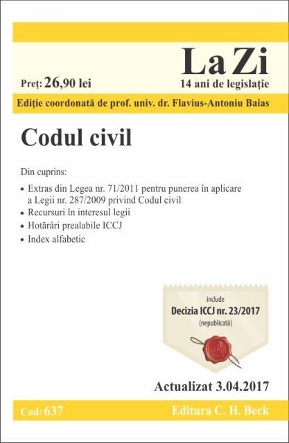 CODUL CIVIL (637) - 03-APR-2017