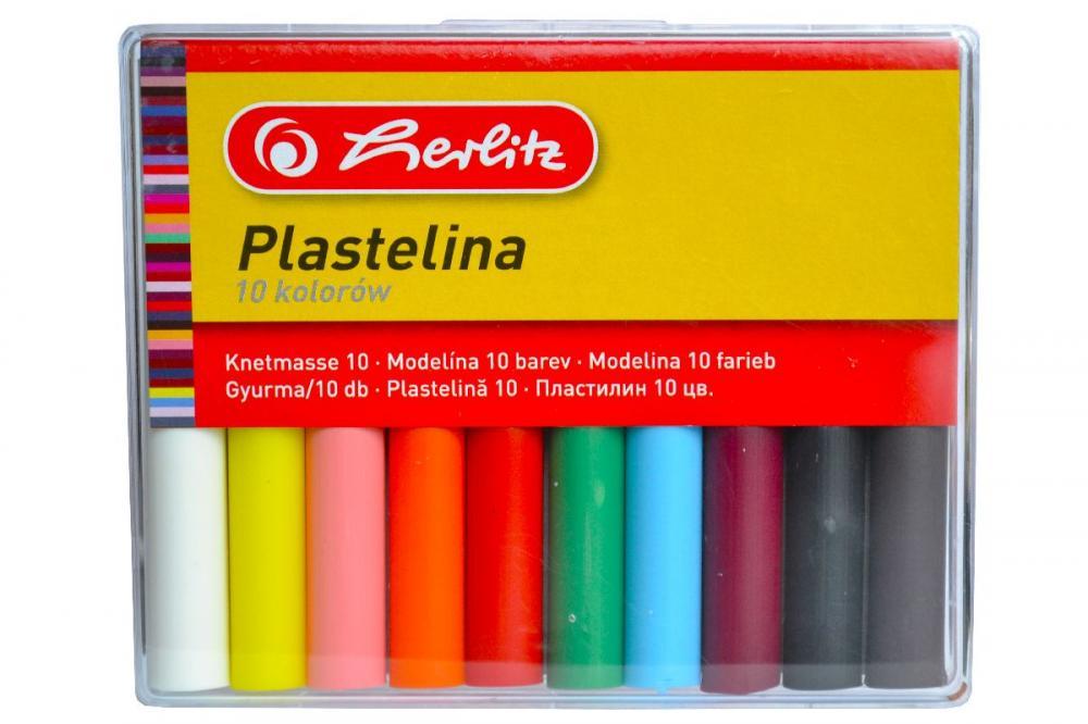 Plastilina Herlitz,10culori/set