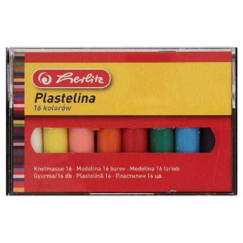 Plastilina Herlitz,16culori/set