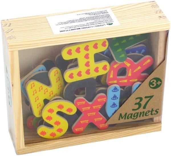 zzLitere din lemn cu magnet