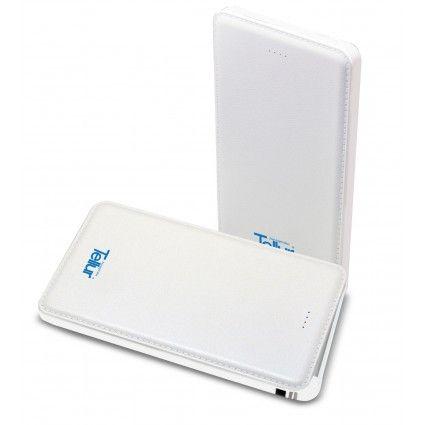 Power bank Tellur Super Slim Line 5000 mAh, Micro USB + Lightning, White