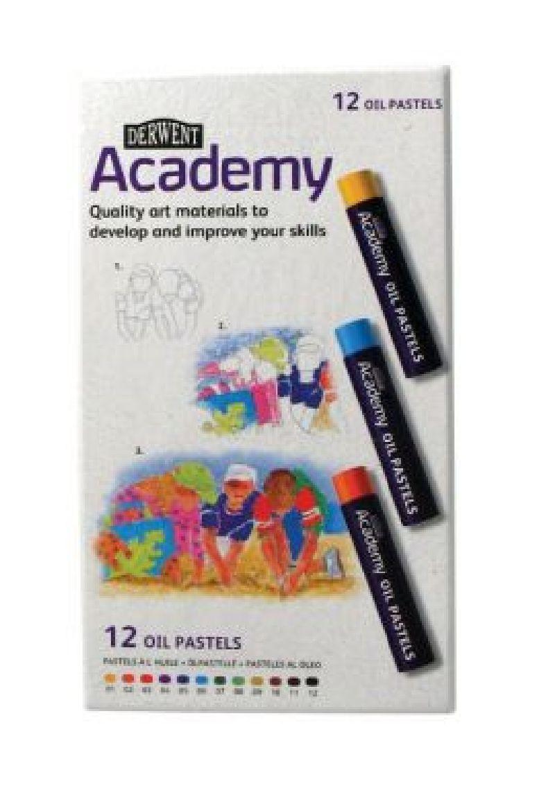 Set creioane cerate Academy,in ulei,12buc