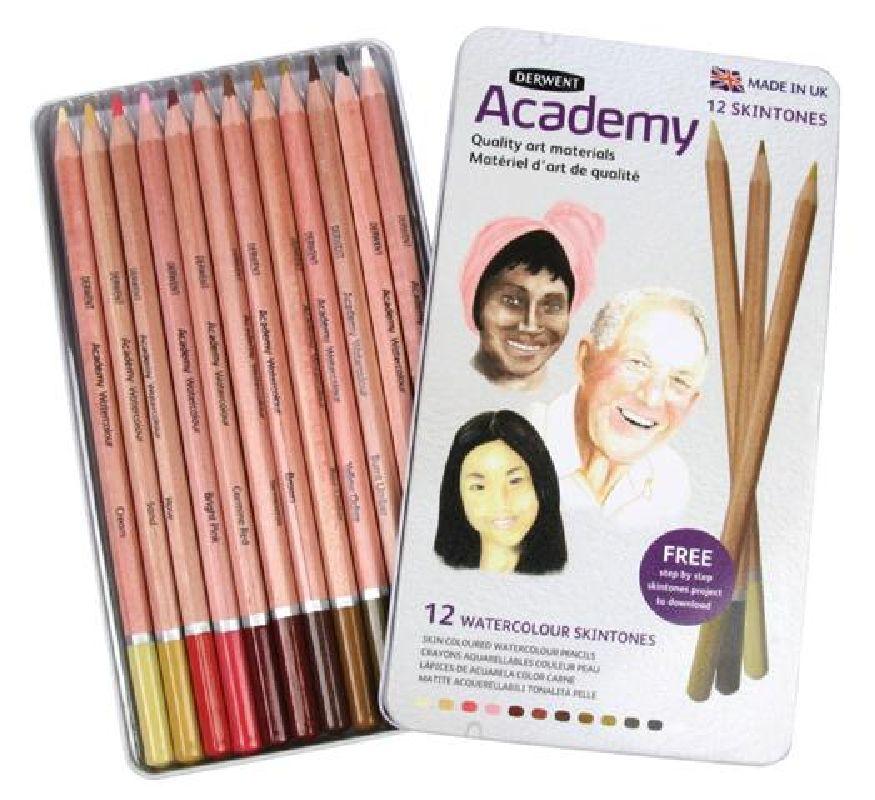 Set creioane Academy Watercolour Skintone 12buc