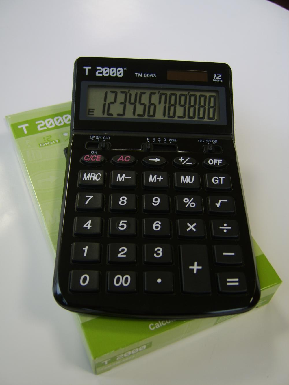 Calculator birou T2000, 12 digiti, diverse culo