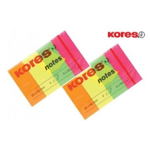 Index Kores 4 culori 20x50mm, 50 file