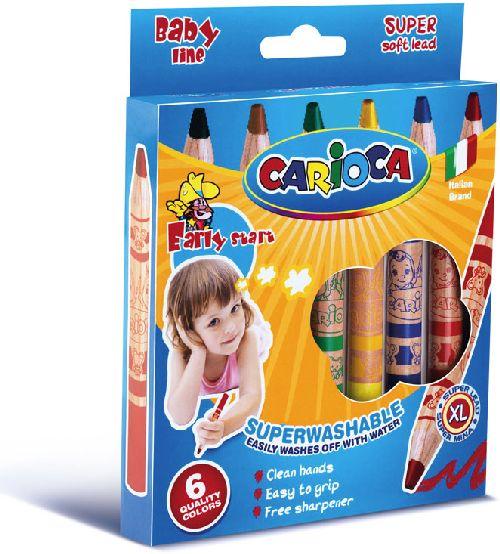 Creioane cerate,6b/set,Carioca Baby